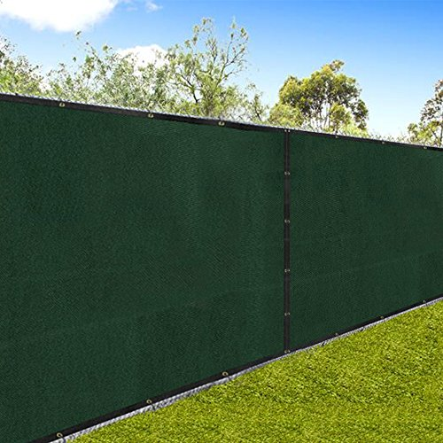 "Sunshine Hanging Slat (Amagabeli 5'8""x50' Fence Privacy Screen Heavy Duty for 6'x50' Chain Link Fence Fabric Screen with Brass Grommets Outdoor 6ft Patio Construction Fencing 90% Blockage Shade Tarp Mesh UV Resistant Green)"