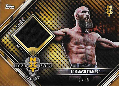 2019 Topps Road to WrestleMania Mat Relics Bronze #MR-TC Tommaso Ciampa NM-MT MEM 53/99 NXT TakeOver: New Orleans 2018 from Road to WrestleMania
