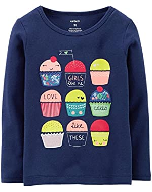 Baby Girls' Graphic Tee (Baby) - Cupcakes