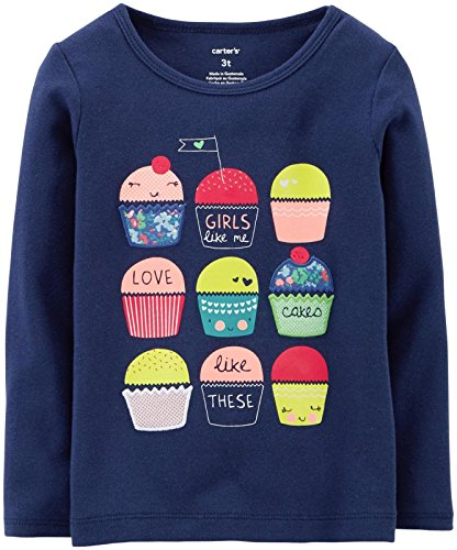 Carter's Baby Girls' Graphic Tee (Baby) - Cupcakes - 12 Months