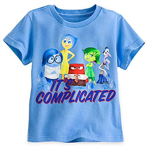Disney Store Little Girls Inside Out Its Complicated Tee (XX-Small 2/3) Blue