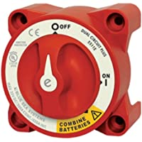 BLUE SEA SYSTEMS BS-5511E / E Ser. Batt Sw 2 Ckt on-Off-Both Red