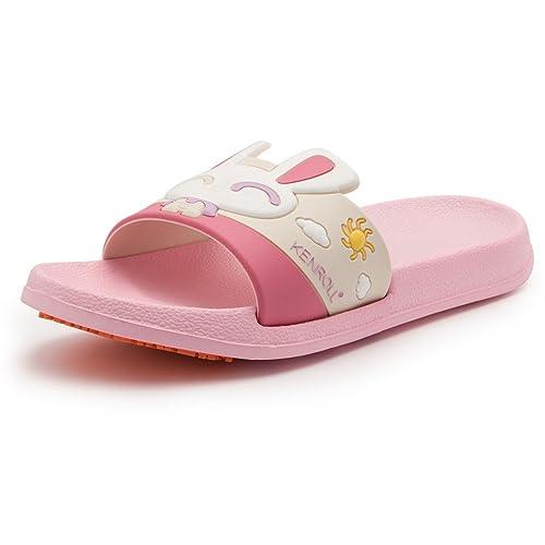 5bf57091a KENROLL Unisex Kids Bathroom Shower Anti Skid Sandals Slippers Lovely Non-Slip  EVA Flat Soles Flip Flops (8-9 Kids