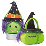Lillian Vernon Personalized Kids Witch Halloween Treat Bag Character - Felt 10'' x 10'' x 12'' Trick or Treat Bag