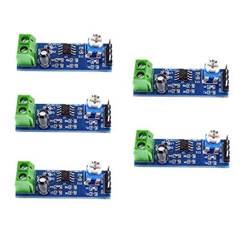 Oiyagai 5PCS 200 Times Gain 5V-12V LM386 Audio Amplifier Module for Arduino EK1236