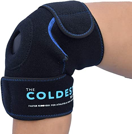 The Coldest Knee Ice Pack Wrap, Hot and Cold Therapy