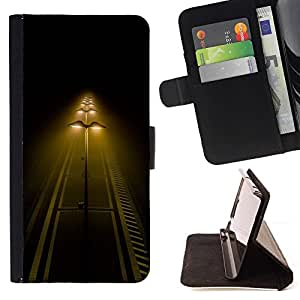 Momo Phone Case / Flip Funda de Cuero Case Cover - Calle Luces Noche Camino Amarillo - Samsung Galaxy S3 III I9300