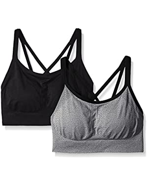 Women's Strappy Cami Seamless Bra in a Value (Pack of 2)