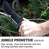 SOG Survival Machete with Sheath - Jungle Primitive Tactical Machete for Clearing Brush, Camping Machete with Machete Knife Sheath