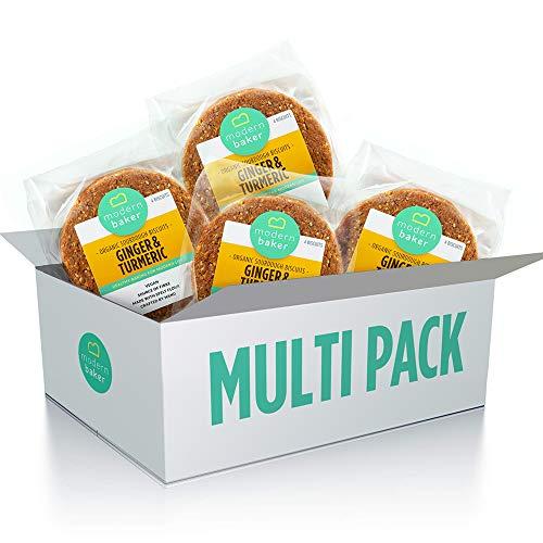 Modern Baker – Ginger & Turmeric, Organic Sourdough Biscuits Four Pack (4 x 200g)