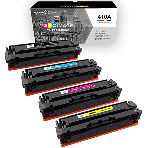 Magenta Laser Hp Ink (GPC Image Valueline 410A Compatible Toner Cartridge replacement for HP 410A CF410A for HP Color LaserJet Pro MFP M477fnw M477fdw M477fdn M452dn M452dw M452nw 4 Pack (1 Black 1 Cyan 1 Magenta 1 Yellow))