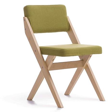 Amazon.com: DYY Silla plegable de madera maciza para ...