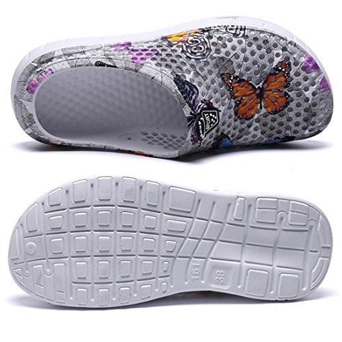 Gray 161 Margay Mules YY Butterfly Femme fqfBYUTwAx