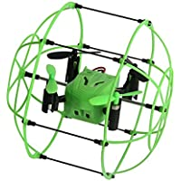 Owill Helic Max Sky Walker 1336 2.4GHz 4CH RC Quadcopter 3D Flip Round Shape For Flying Protect (Green)