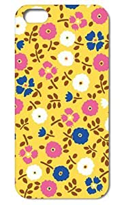 5s Case, iphone 5c &5s Case,Tomhousmick-Custom design hard Fashion Style Colorful Painted Flowers Pattern case cover for iphone 5c
