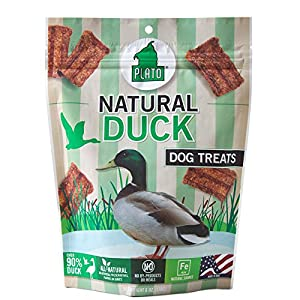 PLATO Dog Treats - Natural Duck Real Strips