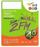 ヨーロッパ周遊 アジア周遊 プリペイド SIMカード!3G/4Gデータ通信【15日間4GBデータ定額】AIS Sim2Fly Sim