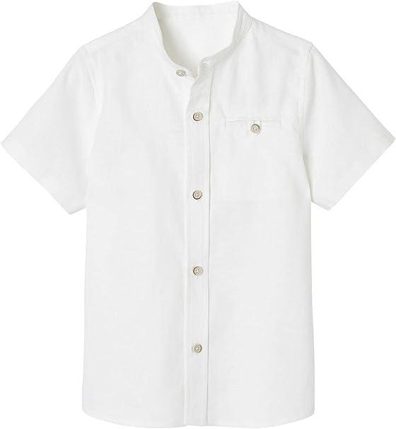VERTBAUDET Camisa para niño con Cuello Alto.: Amazon.es: Ropa y accesorios