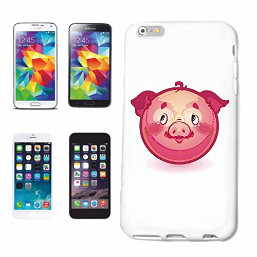 "cas de téléphone iPhone 7 ""PIG CONTENU Glücksschwein SMILEY ""SMILEYS SMILIES ANDROID IPHONE EMOTICONS IOS grin VISAGE EMOTICON APP"" Hard Case Cover Téléphone Covers Smart Cover pour Apple iPhone en bl"