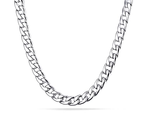 0820a5f2a9d Image Unavailable. Image not available for. Color: VNOX Stainless Steel  Curb Link Chain Necklace for Men 8.0mm,24 Inches