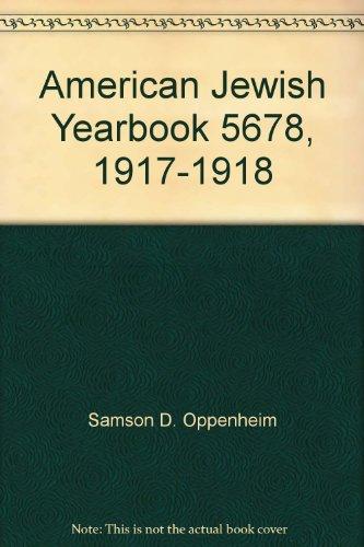 American Jewish Yearbook 5678, 1917-1918