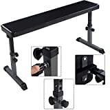 DreamHank Flat Weight Bench Height Adjustable Heavy Duty Lifting and Ab Workout Padded Bench
