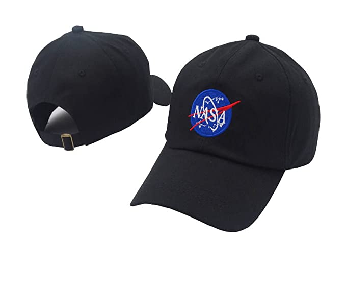 TOODOO black nasa Hats white Snapback Baseball Cap For Men Women Gorras Mujer Casquette Girls (