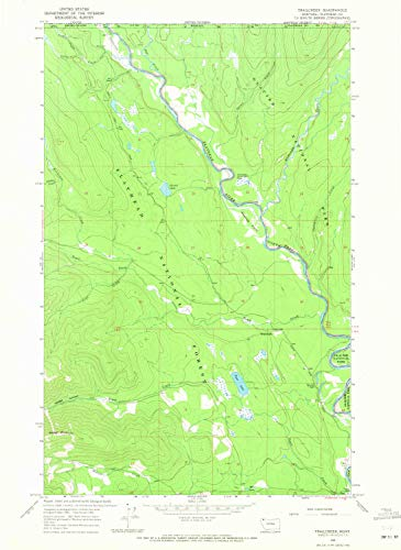 YellowMaps Trailcreek MT topo map, 1:24000 Scale, 7.5 X 7.5 Minute, Historical, 1966, Updated 1971, 26.9 x 19.6 in - Paper]()