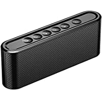 TOMROAD Portable Bluetooth Speaker Wireless Stereo Loudspeaker Music Player Built-in Microphone with Touch Control Support TF card Hands-free for iphone, Phones, iPad and Tablet (Black)