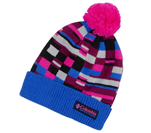Columbia Unisex '80s Retro Beanie Hat (O/S, Blue Macaw/Pink/Black/Grey) for sale  Delivered anywhere in USA