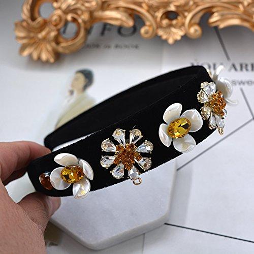 Flannel Daisies - Generic 2018 style palace crystal diamond crown tiara daisy flannel wide hoop bridal jewelry girl headdress