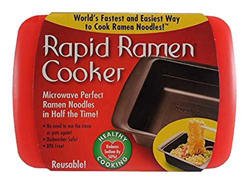 (Rapid Ramen Cooker - Microwave Ramen in 3 Minutes - BPA Free and Dishwasher Safe (Four)