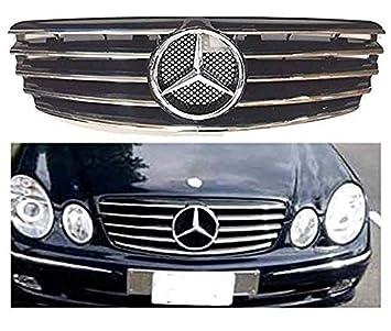 Mercedes Benz E-Class E500 E430 E55 E350 2003 2004 2005 2006 Black Chrome Grille grill AMG Style front Hood Bumper #202F