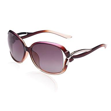 df732ceeaf DUCO Women s Stylish Polarised Sunglasses Star Glasses 100% UV Protection  2229 (Gradient Purple)