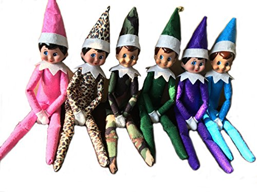 Miraise Christmas Elf on The Shelf Plush Dolls Toy Boy and Girl Decorations (Combination 11) (Christmas Elf Toy)