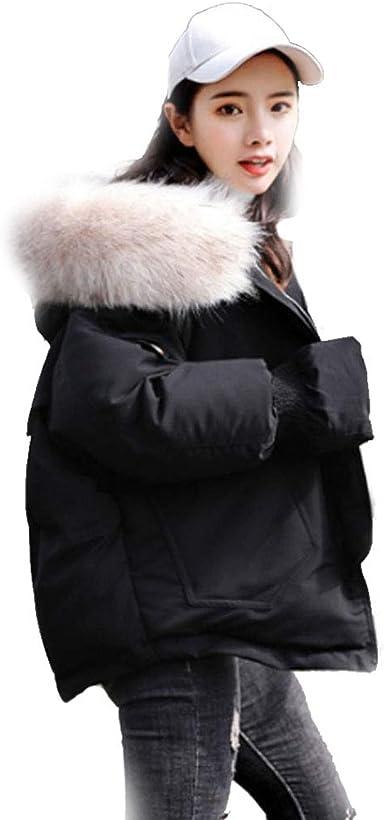 Qifengshop Abrigo de algodón Ropa de algodón Acolchada versión Coreana de Pan Suelto Vestido pequeña Chaqueta de algodón Beige Negro de Moda Abrigo Corto Extranjero: Amazon.es: Ropa y accesorios