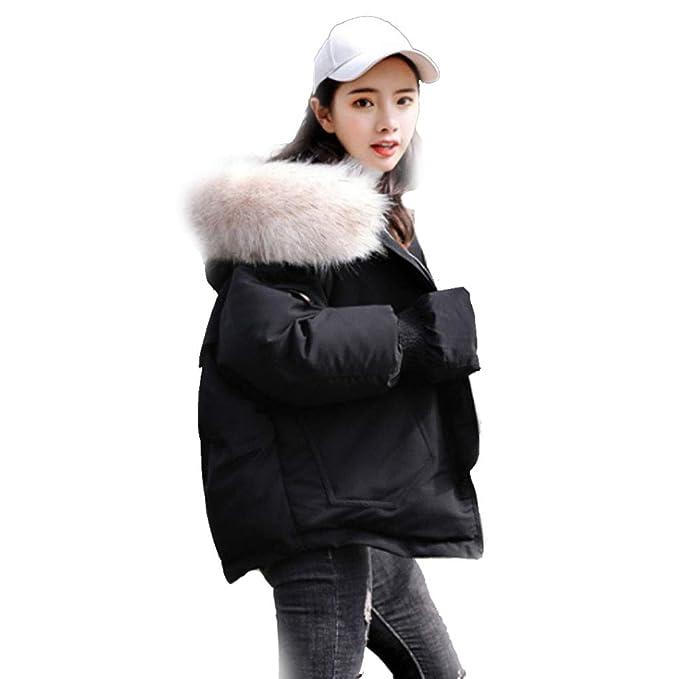 Abrigos algodón Ropa Acolchada de algodón versión Coreana del Vestido de Pan Suelto Chaqueta de algodón pequeña Corto Extranjero de Color Negro Beige: ...