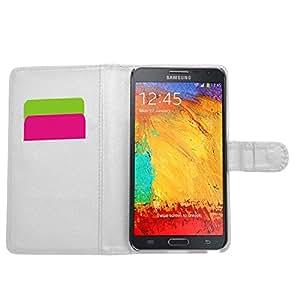 Samrick Ejecutivo Especialmente Diseñado Cuero Suave Estuche Cartera y Tarjetero Para Samsung Galaxy Note 3 Neo - Blanco (White)