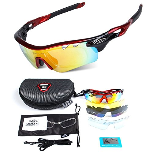 POLARIZED Sports Sunglasses Cycling Glasses With 5 Interchangeable - The Fish In Sunglasses Water See To