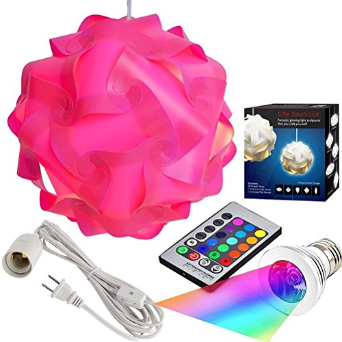 Puzzle lights with lamp cord kits self diy assembled puzzle lights mordem lampshade iq lamp Home decorations light kit