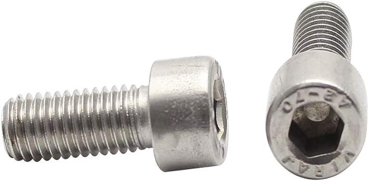 Vis /à M/étaux T/ête Cylindrique /à Six Pans Creux DIN 912 Acier Inox M2x12 x100