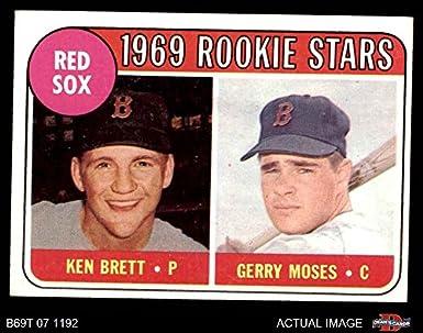 Amazoncom 1969 Topps 476 Wn Red Sox Rookies Ken Brett Jerry