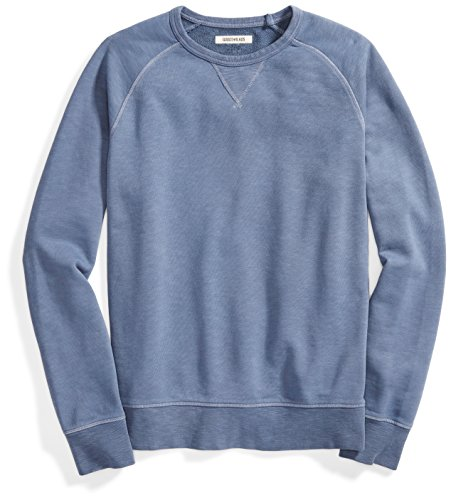Goodthreads Men's French Terry Crewneck Sweatshirt, Navy Eclipse, - Sweatshirts Cotton 100
