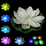 LOGUIDE Dragonfly LED Lotus Light Waterproof Firefly Trendy Hip Unique Color-changing Flower Night Lamp Garden house Lights for Pool Party Fancy Ideal Novel Creative Gift Christmas (Dragonfly)