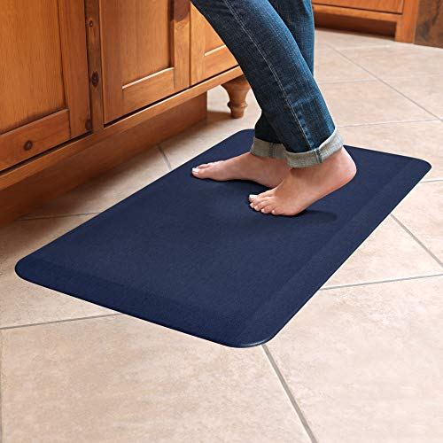 (NewLife By GelPro Anti-Fatigue Designer Comfort Kitchen Floor Mat Stain Resistant Surface with 3/4