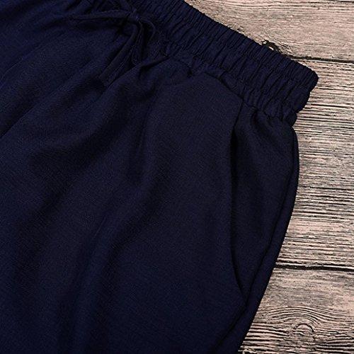 2018 Women Boho Gym Yoga Running Loose Trousers Elastic Smock Waist Casual Pants by-NEWONESUN by NEWONESUN-Pant (Image #4)