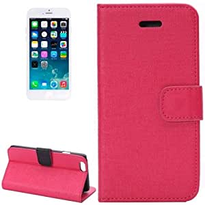 Oracle Texture Horizontal Flip Leather Case with Card Slot and Holder for iPhone 6 (Magenta)