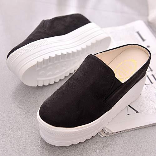 Mode Party Coins D'été Sandales Plate Noir Nouveau Simple Pantoufles Solides 2019 Casual D'été D'été Girl Chaussures Femmes Ihengh Cadeau Forme Plat TYqFv1x