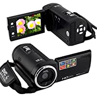 HD-C6 Hd 720p 16mp Digital Video Camcorder Camera Mini Dv 2.7 TFT LCD 8 x Digital Zoom + Fashion Silicon Bracelet, Black