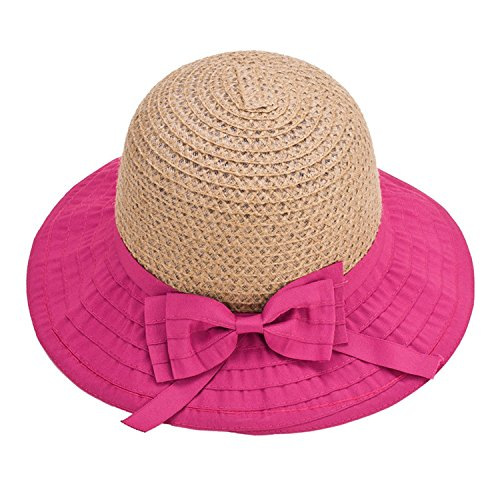 Barry Picks Fashion Women Sun Hats Classic Foldable Patchwork Wide Brim Straw Hat Nice Bow Summer Boater Hat Lady Hats Beach Cap Onesize Pinkmixxakis